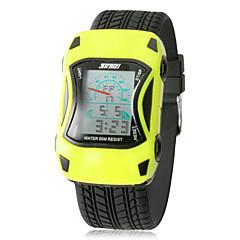 forme de voiture LCD de la montre (couleurs assorties) des enfants numérique silicone de bracelet