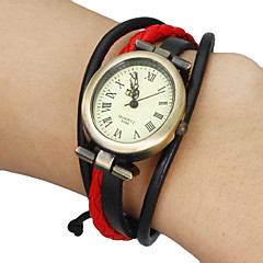 Women's Vintage Elliptical Dial Plaited Band Bracelet Watch (Assorted Colors) Cool Watches Unique Watches Strap Watch