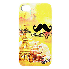 Mustache Iron Tower Teapot Back Case for iPhone 4/4S