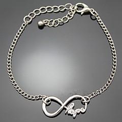Hope Word Letters Infinite Infinity Chain Bracelet