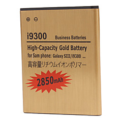 2850mAh matkapuhelimen akku Samsung Galaxy S3 i9300