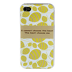 Delicate Carved Pattern Cover PC Hard Case for iPhone 4/4S