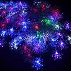 20-LED 4M Vandtæt EU Plug Outdoor juleferie Dekoration Flower RGB Light LED String Light (220V)