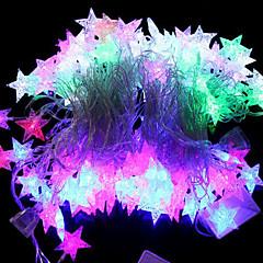 20-LED 4M Vandtæt EU Plug Outdoor Jul Holiday Dekoration Sea Star Shape RGB Light LED String Light (220V)