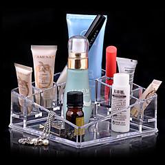 Organizador para Maquiagem Caixa de Cosméticos / Organizador para Maquiagem Acrílico Cor Única 13.5 x 13.5 x 7.0