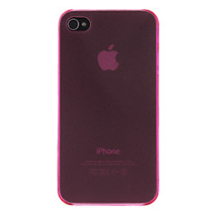 Ultra-thin Protective Transparent Hard Case for iPhone 4/4S (Assorted Colors)
