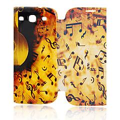 Música Capa de Couro Símbolo para Samsung I9300 Galaxy S3