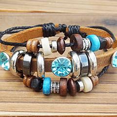 leather Charm Bracelets Beaded Leather Bracelet