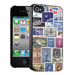 Stamp Pattern 3D Effect Case for iPhone4/4S