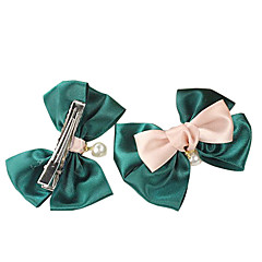 (1 Pc)Sweet Green Pearl Hair Ties FOR Kid's(Green)