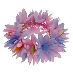 (1 Pc)5cm Kid'S Multicolor Flower Fabric Strand Bracelet/Hair Tie