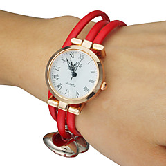 Women's Candy colors PU Band Quartz Analog Bracelet Watch (Assorted Colors) Cool Watches Unique Watches