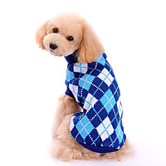 Dog Sweater Blue Winter / Spring/Fall Plaid/Check