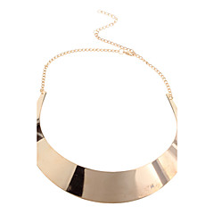 Golden Choker Necklaces Alloy Party Jewelry