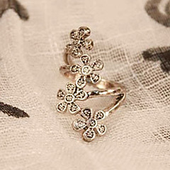Women's Korean Fashion Retro Four Small Plum Flower Ring