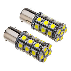 1156 4W 27x5050SMD 330-360LM 6000-6500K Cool White Light LED pære til bil (12V)
