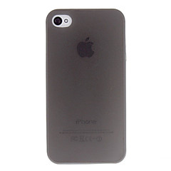 Solid Color Simple Transparent TPU Case for iPhone 4/4S (Assorted Colors)