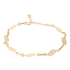 Leaves Golden-Plated Anklet