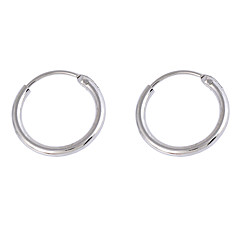 Earring Round Hoop Earrings Jewelry Women Daily / Casual Alloy Silver