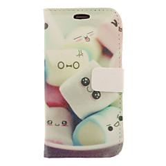 Sarjakuva Marshmallow Drawing Pattern keinonahka Kova muovi Cover Taskut Samsung Galaxy S3 I9300