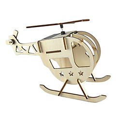 DIY Solar Powered Helicopter Wooden Toy