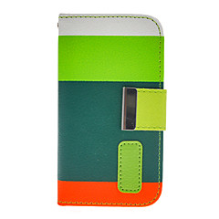 Contrast Color PU Full Body Case with Stand and Card Slot for iPhone 4/4S (Assorted Colors)