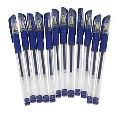 Blue Ink Gel Pen Set,12 Pcs
