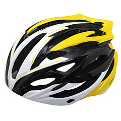 Outdoor Sports PC and EPS Materials Cycling Helmets(27 Vents,Yellow)