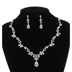Biżuteria Ustaw Damskie Rocznica / Ślub / Zaręczynowy / Urodziny / Prezent / Strona / Piękny Jewelry Sets Cyrkonia Naszyjniki / Náušnice