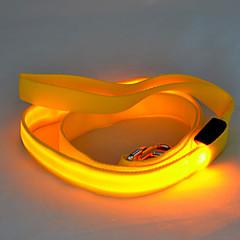 Σκυλιά Λουριά Φώτα LED / Ασφάλεια Μονόχρωμο Κόκκινο / Λευκό / Πράσινο / Μπλε / Ροζ / Κίτρινο / Πορτοκαλί Νάιλον