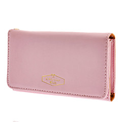 Women Fashion Pu Leather Phone Purse for iPhone And Samsung(Assorted Color)