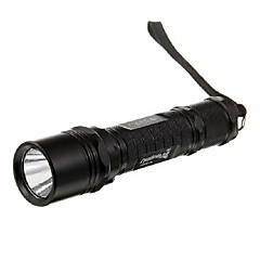 Uniquefire M2 mono-mode Cree XP-G R5 LED Flashlight (320LM, 1 * 18650, Noir / Argent)