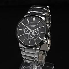 banda de acero resistente al agua reloj de moda vestido de reloj de los hombres
