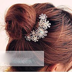 z&X® mor çiçek kristal saç tarağı