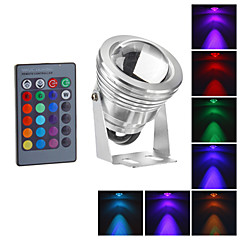 Waterproof 10W RGB LED Outdoor Garden Lamp IR Remote Control 16colors Floodlight (12-18V)