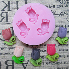 3D Round Flower Silicone Cake Molds