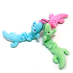 Cat Toy Dog Toy Pet Toys Plush Toy Dinosaur Cartoon Textile Green Blue Pink