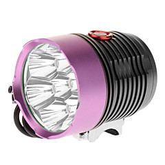 LT-2X7 3-Mode 7xCree XM-L T6 LED bicicleta Lanterna / Farol (6000LM, 4x18650, Roxo + Brown)