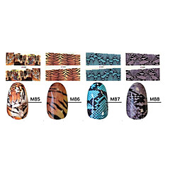 1x10PCS Animal Skin Tiger&Snake Sery Full-Cover Nail Stickers(Assorted Patterns)