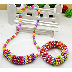 Girl's Snowflake sieraden set (ketting en armband) (willekeurige kleur)