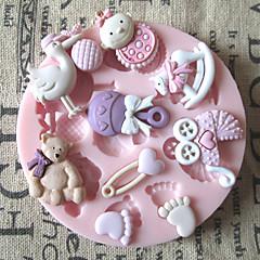 3d karhun jalat vauvan lelu silikoni suklaa muotti konvehti sokeri veneet muotit