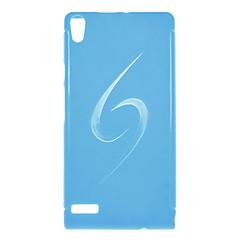 Minimalistisk Solid Color Tilbage Case for Huawei P6