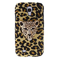 Modedesign Leopardmönster Hard Case med Rhinestone för Samsung Galaxy S4 I9500