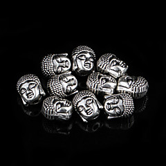 Classic Oval Silver Alloy Charms 10 Pcs/Bag (Silver)