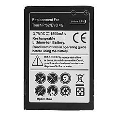 1500mAh mobiltelefon batteri för HTC Snap S511, TILT 2, Touch Pro 2