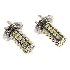 H7 6W 68x3020SMD 460LM 5500-6500K Cool White Light LED lampa för bil (12V)