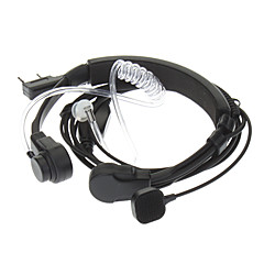 Kenwood 3.5mm + 2.5mm Retractable Throat Vibration Finger PPT Acoustic Tube Earphone + Mic