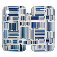 Bar Code Pattern PU Leather Full Body Case for Samsung S5830