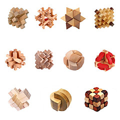 Chinese Traditional Wooden Intelligence Lock Toy (Assorted Color)