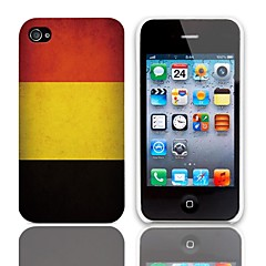 Vintage The Flag of Belgium Design Hard Case with 3-Pack Screen Protectors for iPhone 4/4S